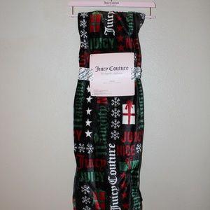Juicy Couture Christmas Naughty or Nice Throw NWT